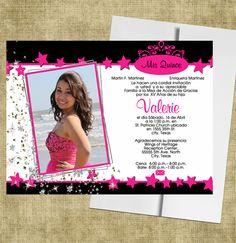 quinceanera invitations stars http://www.eventphotocards.com/en/quinceanera-invitations-stars-865