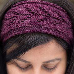 Facilito pattern by Shireen Nadir Super easy, and fast, this cute little stash buster can be worked up over an evening! Great for leftover bits of luxury yarns :) Lace Knitting, Knitting Patterns Free, Hat Patterns, Knitted Headband Free Pattern, Crochet Headbands, Baby Headbands, Knitted Hats, Crochet Hats, Knitting For Charity