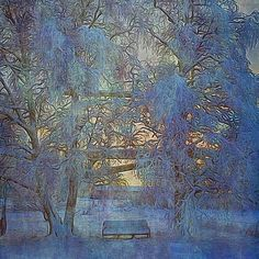 My garden. By Yla. Abstract Art, Landscapes, Winter, Garden, Artwork, Painting, Paisajes, Winter Time, Scenery