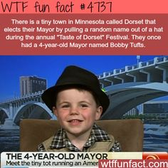 4-year-old mayor of a town in Minnesota - WOW! Jus WOW!  ~WTF? weird and fun facts