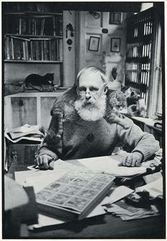 Edward Gorey is listed (or ranked) 47 on the list Cool Old Photos of Celebrities with Their Cats Edward Gorey, Men With Cats, Gatos Cats, Cat People, Crazy Cats, Cool Cats, Artist At Work, Cat Lady, Old Photos