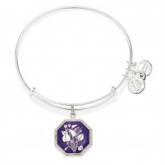 Seduced by Innocence Violet Charm Bangle from Alex and Ani