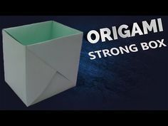"""How to make a Paper """"Strong Dual Tone Box"""" using A4 paper - Useful Origami tutorial - YouTube"""