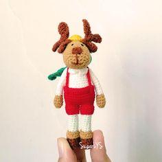 CROCHET PATTERN X-Mas Reindeer Amigurumi by SugarLYS