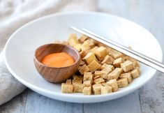 Crispy tofu is the perfect appetizer or addition to a salad or stir fry. All you need is tofu, olive oil, salt, and an air fryer to make this quick and easy dish. My Favorite Food, Favorite Recipes, Healthy Eating Recipes, Easy Recipes, Healthy Life, Date Night Recipes, Crispy Tofu, Quick Easy Meals, Good Food