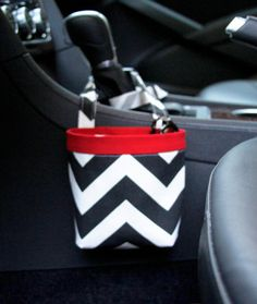On Sale CAR CELLPHONE CADDY Black Chevron Cell Phone Holder