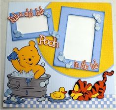 Party Supplies INSTANT DOWNLOAD etc Disney Winnie the Pooh Inspired 12x12 Digital Paper Backgrounds for Digital Scrapbooking