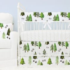 woodland rustic tree crib bedding set for a animal inspired nursery