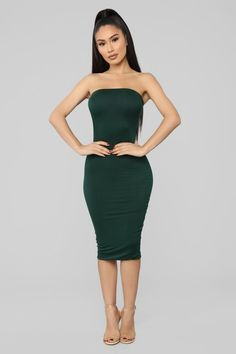 3ede4e32c9 Anna Dress - Hunter Green