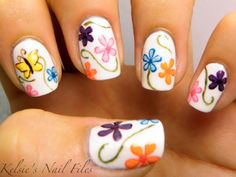 Kelsie's Nail Files:Super Cute Flowers Nail Art