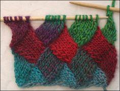Entrelac Scarf Knitting Pattern | Entrelac Knitting Patterns