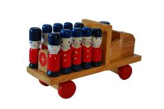 Wooden Educational Toy Truck w/ Soldiers. $20.00, via Etsy.