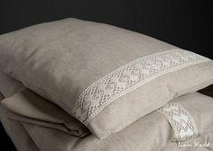 Cassa del cuscino lino decorato con fili di lino. Cotone lino grigio naturale fodere per cuscini, federe in lino. Copertura del cuscino in lino