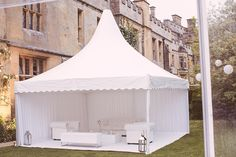 if you are going to have a chill out marquee, you may as well fill it with our gorgeous white Chesterfield sofas!
