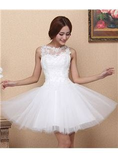 Amazing A-Line Appliques Scoop Zipper-Up Sweet 16 Dress Inexpensive Homecoming Dresses- ericdress.com 10950340  gasp