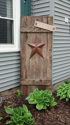 Barn door w/ sign :)