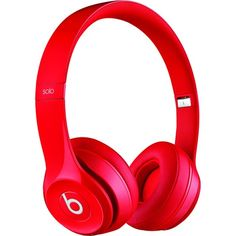 Beats by Dr. Dre - Beats Solo 2 On-Ear Wireless Headphones - Red - Front Zoom