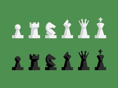 Chess Pieces by Andy Mangold via Dribbble.