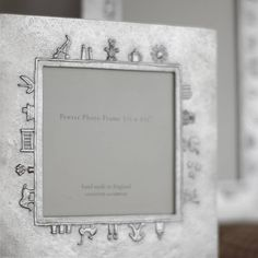 Baby Charms Cast Pewter Photo Frame from notonthehighstreet.com