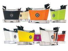 Nowoczesny toster włoskiej marki Casa Bugatti. Posiada 6 poziomów opiekania.