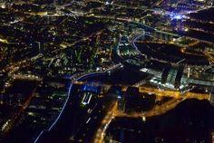 Magische Bilder der Lichtgrenze durch Berlin
