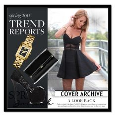 """""""mixed this night black and gold"""" by semafake ❤ liked on Polyvore featuring Tory Burch and Diane Von Furstenberg"""