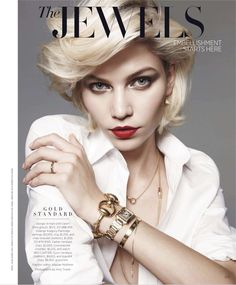 The Jewels – Aline Weber shows off a short coif in this jewelry story featured in Harper's Bazaar US's March edition. The blonde shines for the lens of Amy… Jewelry Editorial, Editorial Fashion, White Editorial, Beauty Editorial, Harpers Bazaar, Amy, Fashion Designer, Fashion Articles, Fashion Fashion
