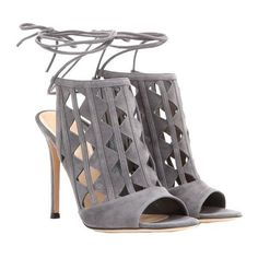 Gianvito Rossi Maxine Cut-Out Suede Sandals $1,230 MYTHERESA.COM My... ❤ liked on Polyvore featuring shoes, sandals, cut out sandals, suede sandals, cut-out shoes, women shoes and suede shoes