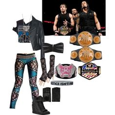 A fashion look from December 2014 featuring leather motorcycle jacket, lace leggings and bandeau bras. Browse and shop related looks. Wrestling Outfits, Wrestling Clothes, Wwe Outfits, Movie Outfits, Girl Outfits, Female Outfits, Superstar Outfit, Superhero Cosplay, Crop Top Outfits