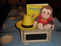 Curious George Centerpiece, Storybook Theme Baby Shower