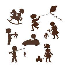 Silhouette Kids Wall Mural  BIG