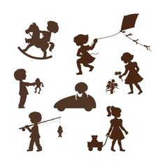Silhouette Kids Wall Mural  BIG