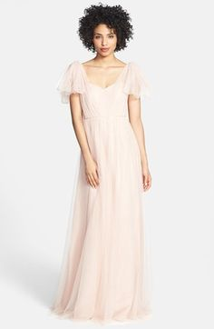 the tulle version  Jenny Yoo 'Annabelle' Convertible Tulle Column Dress   Nordstrom
