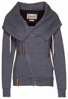 There is something about an asymmetrical pattern and a large collar that I can't quite get enough of -Naketano Zip Up Hoodie
