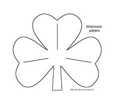 Medium Shamrock template - EnchantedLearning.com