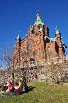 Church near market square in Helsinki