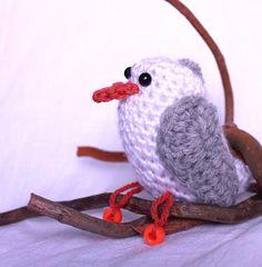 Seagull Crochet Amigurumi by CageFreeFibers on Etsy, $12.00