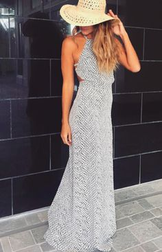 Summer Outfits You Should Already Own, Summer Outfits, summer fashion maxi dress. Fashion Mode, Look Fashion, Fashion Outfits, Womens Fashion, Dress Fashion, Fashion Clothes, Women's Clothes, Summer Outfits, Cute Outfits