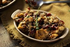 Harvest Apple Cranberry and Sage Sausage Stuffing - The Chunky Chef Best Homemade Sloppy Joe Recipe, Homemade Sloppy Joes, Sloppy Joes Recipe, Sage Sausage, Apple Sausage, Sausage Stuffing, White Pepper Gravy, Zuppa Toscana Suppe, Stuffing Recipes For Thanksgiving