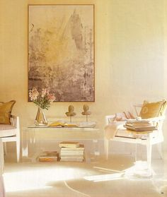 subdued, love the balance of colors, light, style elements.