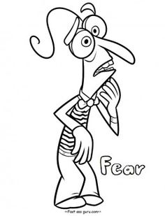 Printable Inside Out Fear Coloring Pages For Kidsinside Disney Characters