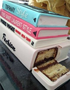 Book shaped cake! How adorable! I don't know if I could eat such a pretty cake, Wait, yes. Yes I could! It's CAKE!