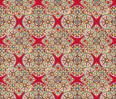 Kaleidoscope geometric by Patricia Shea fabric by patricia_shea on Spoonflower - custom fabric