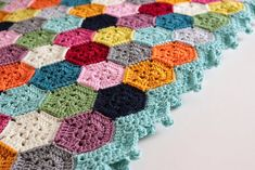 Use your leftover yarn to crochet a gorgeous join as you go hexagon blanket. Link to the free pattern and a lovely little hexie chart atCherry Heart.