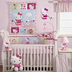 Hello Kitty & Puppy Crib Bedding 3 Piece Baby Set by Bedtime Originals Pink NEW #BedtimeOriginals