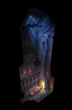 ArtStation - Dracula's Dinning Room, Josh Black