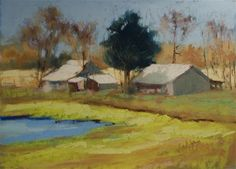 "Daily Paintworks - ""Barns"" - Original Fine Art for Sale - © Judy Wilder Dalton"