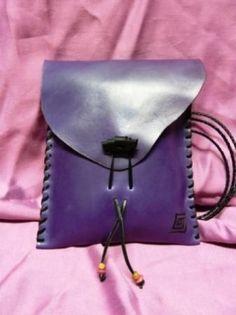 Bolso de cuero hecho a mano ref 975 - artesanum com: