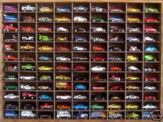 Matchbox Hot Wheels Handmade Display Case 1:64 108 cars Walnut Stain | eBay