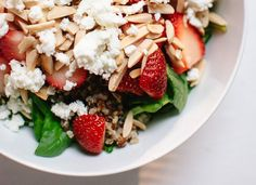 Strawberry, Spinach and Quinoa Salad - Cookie and Kate